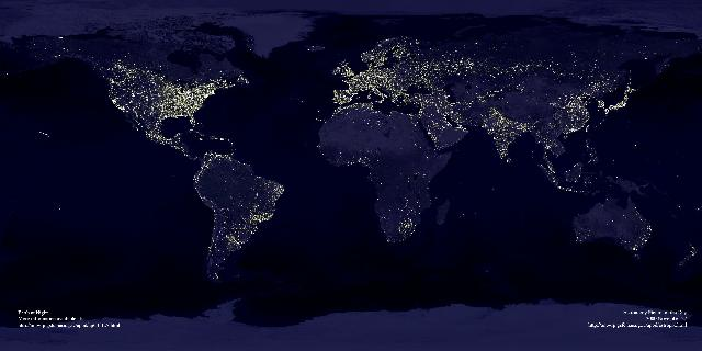 Earth Lights from Space